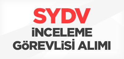 SYDV sözleşmeli inceleme görevlisi alımı