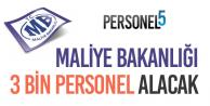 Maliye Bakanlığı, Avukat, Uzman Yardımcısı, Şoför ve Güvenlikçi Personel Alımı